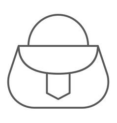 handbag thin line icon fashion and female vector image