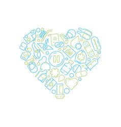 health symbols medicine icon doctor pills drugs vector image