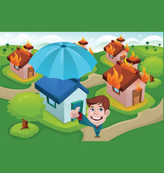 House insurance concept vector