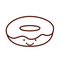 Isolated delicious glaze donut vector