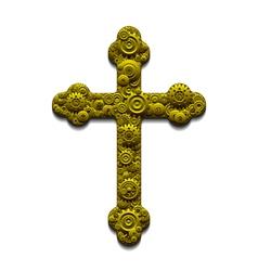 Mechanical Cross vector image