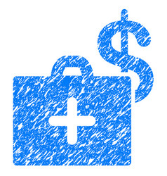 Medical fund case grunge icon vector