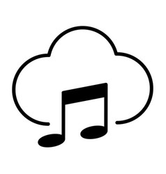 music cloud icon pictogram vector image
