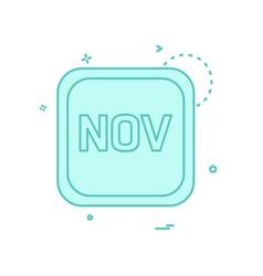 november calender icon design vector image