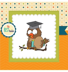 Owl Teacher in format vector image