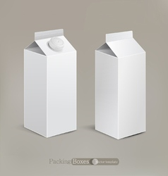 Packaging isolated on a beige background vector