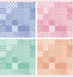 Patchwork handicraft fabric background vector