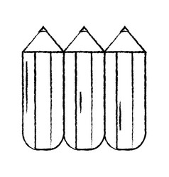 pencil chubby icon image vector image