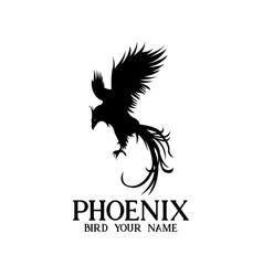 Phoenix animal bird logo vector