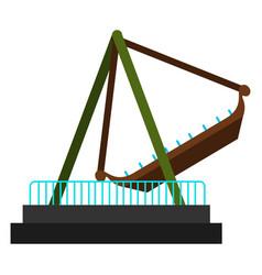 Pirate ship ride vector