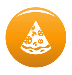 pizza slice icon orange vector image