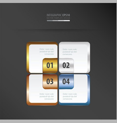 Rectangle presentation template gold bronze vector