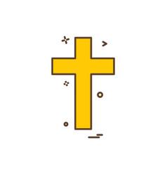 religion cross christian icon design vector image