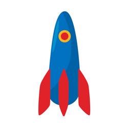 rocket icon spacecraft symbol spaceship button vector image