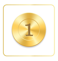 Seal award gold icon blank medal isolated on vector
