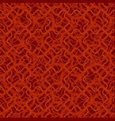 seamless pattern with abstract irregular wavy red vector image