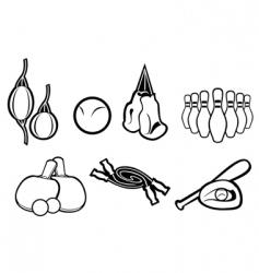 Set active sport symbols vector