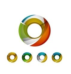 Set of abstract geometric company logo ring vector