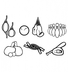 set of active sport symbols vector image