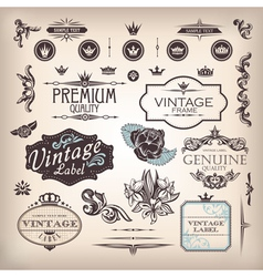 set of design elements vector image