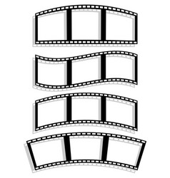 Set of filmstrip silhouettes with different vector