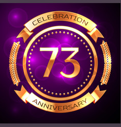 Seventy three years anniversary celebration with vector