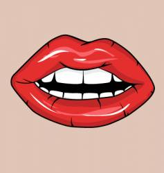 sexy red glossy lips vector image