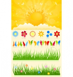 spring collection vector image