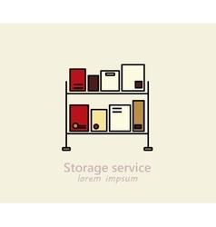 Storage service logo vector