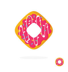 sweet donut isolated icon or doughnut with vector image