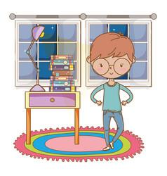 Teenager boy cartoon design vector