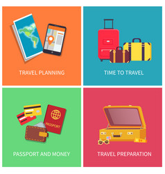 travel planning preparation vector image