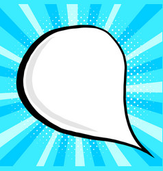 vintage speech bubble in pop vector image