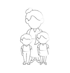 women with kids vector image