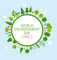 World environment day concept background vector