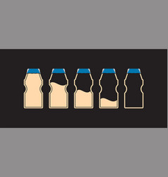 yakult - 5 bottle infographic vector image