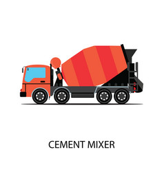 cement mixer truck isolated on white background vector image