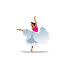Choreography sign Young beautiful dancer girl in vector image vector image