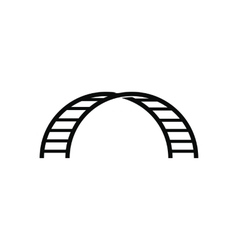 Climbing stairs black simple icon vector image vector image
