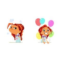 digital funny cartoon happy vector image vector image