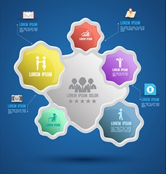 flower group template with icons vector image