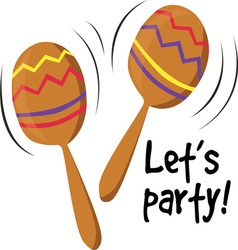 Lets Party vector image