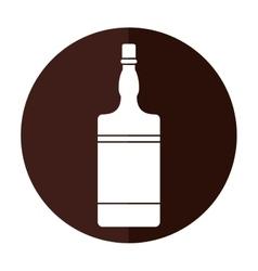bottle whiskey expensive liquor shadow vector image