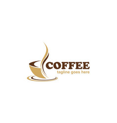 coffee cafe business logo vector image