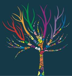 colored tree vector image