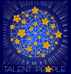 concept of talent is people vector image vector image