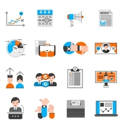 Elections And Voting Icons Set vector image