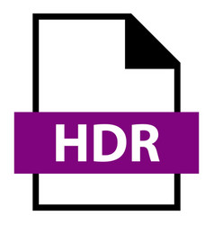 File name extension hdr type vector