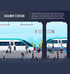 intercity railway station vector image