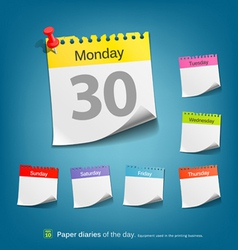 Paper diaries of the day vector image